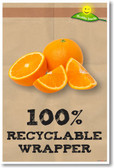Oranges 100% Recyclable Wrapper NEW Healthy Snacks Nutrition Poster (he042) PosterEnvy Fruit