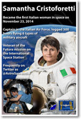 Astronaut Samantha Cristoforetti - First Italian Woman in Space - NEW Space Poster (fp404) PosterEnvy International Space Station ISS