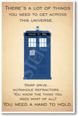 Doctor Who - Tardis - ...You Need A Hand To Hold - NEW British TV Show Humor Poster (hu292) Novelty Gift PosterEnvy