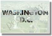 Washington, DC - NEW U.S State Travel Poster (tr580) Capitol Monument PosterEnvy Gift Artwork