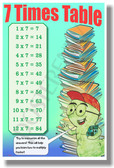 7 Times Table - NEW Math Classroom Poster (ms287) Elementary Math PosterEnvy