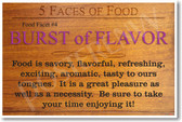 5 Faces of Food Burst of Flavor NEW Healthy Foods and Nutrition health Poster (he063)