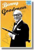 Benny Goodman Famous Jazz Artists NEW Music Poster (mu087) PosterEnvy Poster musician teacher classroom school gift