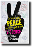 """If You Want Peace...""- John Lennon - NEW Famous Person Quote Poster (fp470) PosterEnvy Poster"