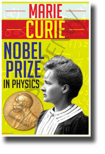 Marie Curie - NEW Famous Person Science Poster