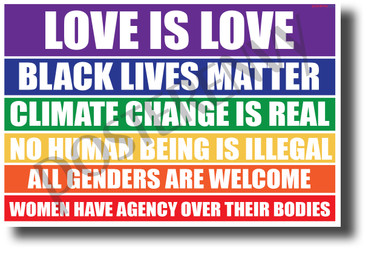 Love Is Love - NEW Political Poster
