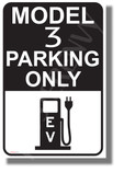 Tesla Model 3 Parking (Black) - NEW Electric Vehicle Humor Elon Musk POSTER (hu424)