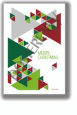 Merry Christmas Triangles - NEW Classroom Motivational Poster - Poster Envy