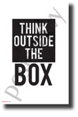 Think Outside the Box - NEW Classroom Motivational POSTER (cm1282)