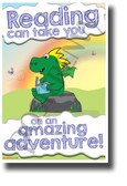 Reading Can Take You on an Amazing Adventure - NEW Classroom Motivational Reading POSTER (rw206)