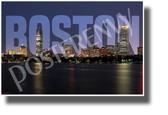 Boston, Massachusetts - NEW U.S State City Travel Poster