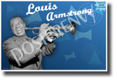 Louis Armstrong Famous Jazz Musician - NEW Famous Person Music POSTER