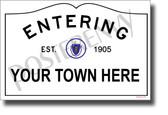 CUSTOM MA Town Sign - NEW World Travel Massachusetts - Poster (tr608)