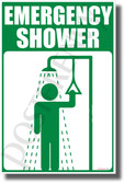 Emergency Shower - NEW Laboratory or Classroom Science Poster