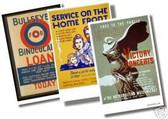 3 Poster Set - Vintage - Help On the Homefront