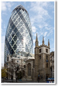 30 St Mary Axe Swiss Re Building - London, England - NEW World Travel Poster