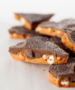Dark Chocolate Sea Salt Peanut Brittle