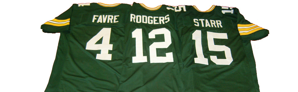 Brett Favre-Aaron Rodgers- Bart Starr Custom Packers Jerseys