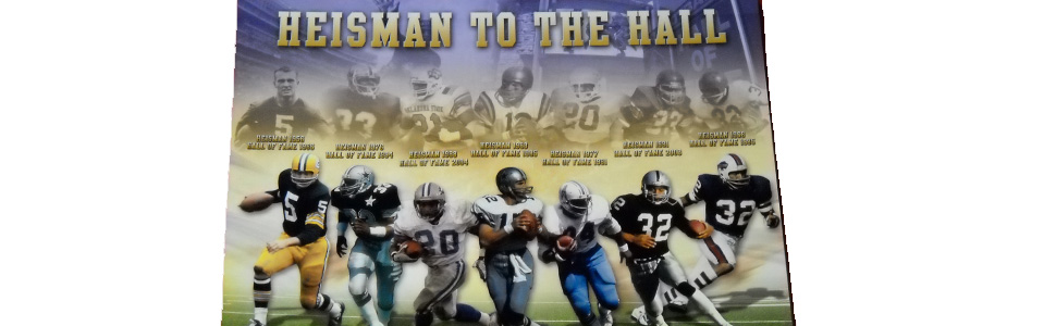 Heisman To The Hall Poster