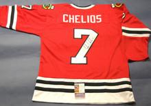 CHRIS CHELIOS AUTOGRAPHED CHICAGO BLACKHAWKS JERSEY JSA