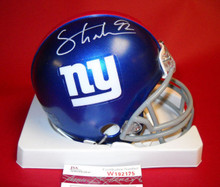 MICHAEL STRAHAN AUTOGRAPHED NEW YORK GIANTS MINI HELMET JSA 2014 HOF