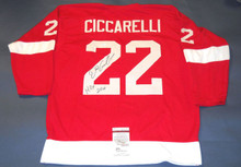 DINO CICCARELLI AUTOGRAPHED DETROIT RED WINGS JERSEY JSA