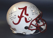 MARK INGRAM EDDIE LACY AUTOGRAPHED CUSTOM ALABAMA ROLL TIDE FS HELMET JSA 6 INSC