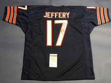 ALSHON JEFFERY AUTOGRAPHED CHICAGO BEARS JERSEY JSA LAST ONE