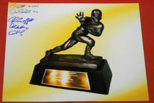 HEISMAN TROPHY WINNERS AUTOGRAPHED 16 X 20 PHOTO HOWARD PLUNKETT SULLIVAN 5 AUTO
