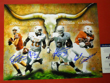 EARL CAMPBELL RICKY WILLIAMS VINCE COLT SIGNED TEXAS LONGHORNS 16X20 PHOTO AAA