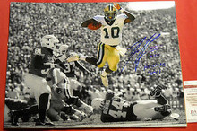 ROBERT GRIFFIN III AUTOGRAPHED 16X20 SEPIA PHOTO BAYLOR JSA HEISMAN INSCRIPTION