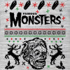 Shock Monster Grey Ugly Holiday Sweater