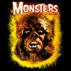 Famous Monsters Werewolf Head T-shirt