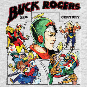 Buck Rogers Comic Collage Mens T-Shirt