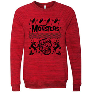 Shock Monster Red Ugly Holiday Sweater