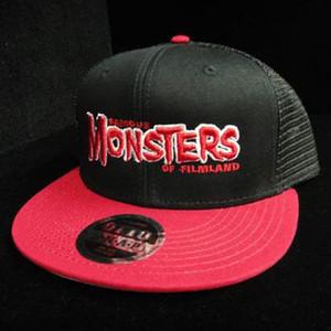 Red FM Logo High Crown Trucker Hat (Black/Red)