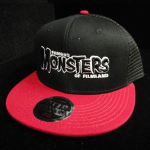 Black FM Logo High Crown Trucker Hat (Black/Red)