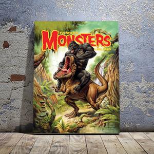 Kong VS Rex Canvas Print