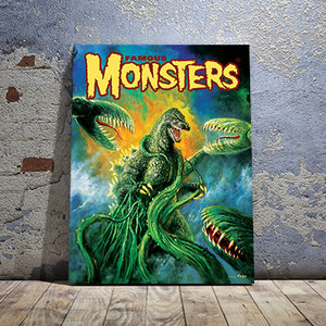 Godzilla VS Biollante Canvas Print