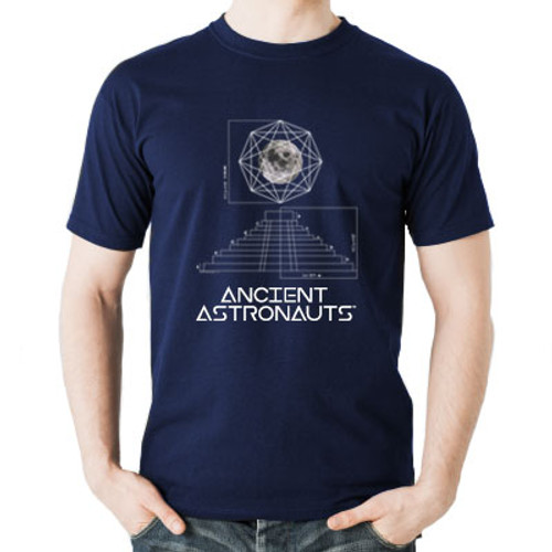 Ancient Astronauts Blueprint Navy Tee