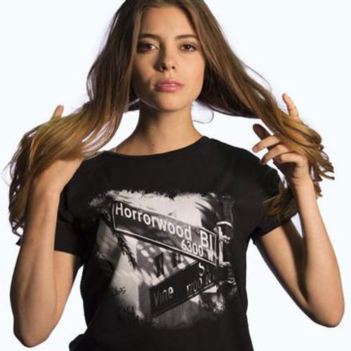 Horrorwood & Vine Thrasher Tee - Black