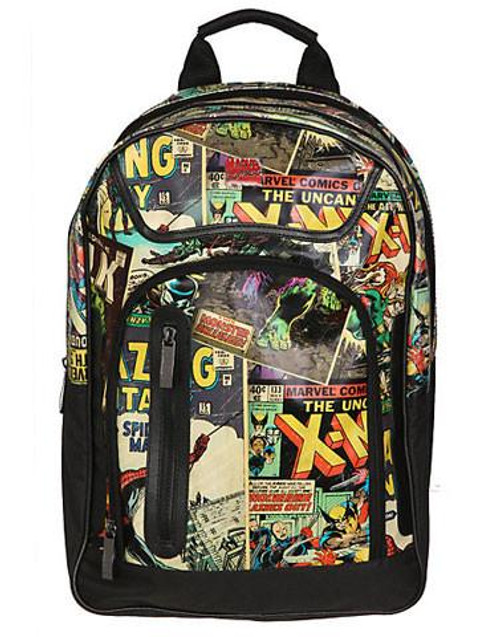 Retro Marvel Comic Book Backpack