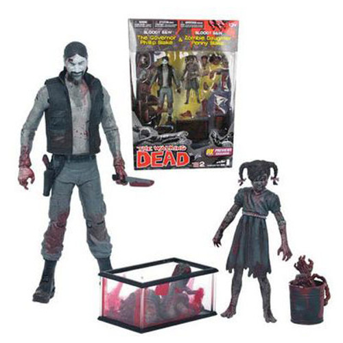 THE WALKING DEAD Bloody Governor & Penny Figures