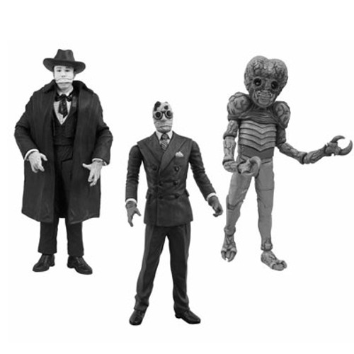 Black and White Universal Monsters Series 3 Action Figure Set