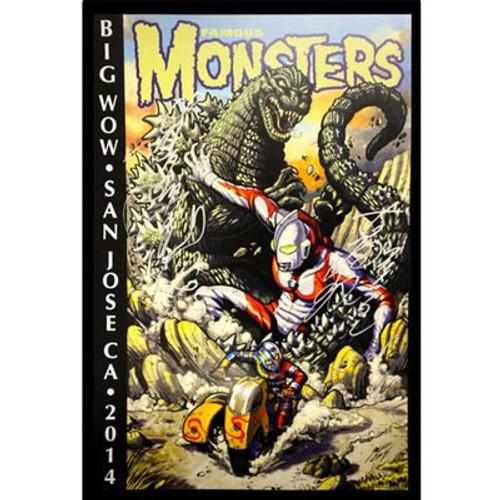 AUTOGRAPHED! Godzilla, Ultraman, Kikaida Big Wow! Exclusive Poster