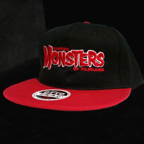 Red FM Logo Snapback Cap (Black/Red)