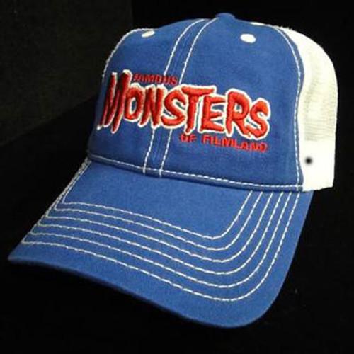 Red FM Logo Low Crown Trucker Hat (Blue/White)