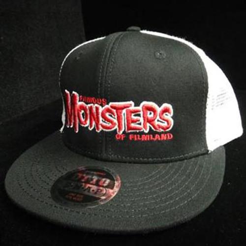 Red FM Logo High Crown Trucker Hat (Black/White)