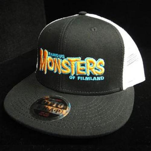 Orange FM Logo High Crown Trucker Hat (Black/White)