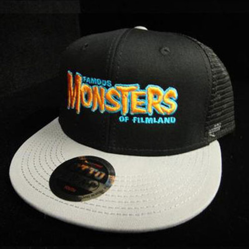 Orange FM Logo High Crown Trucker Hat (Black/Grey)